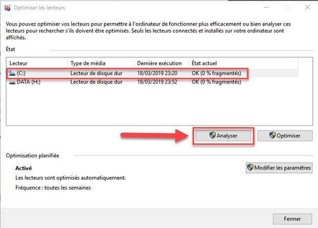 analyser disque dur windows 10