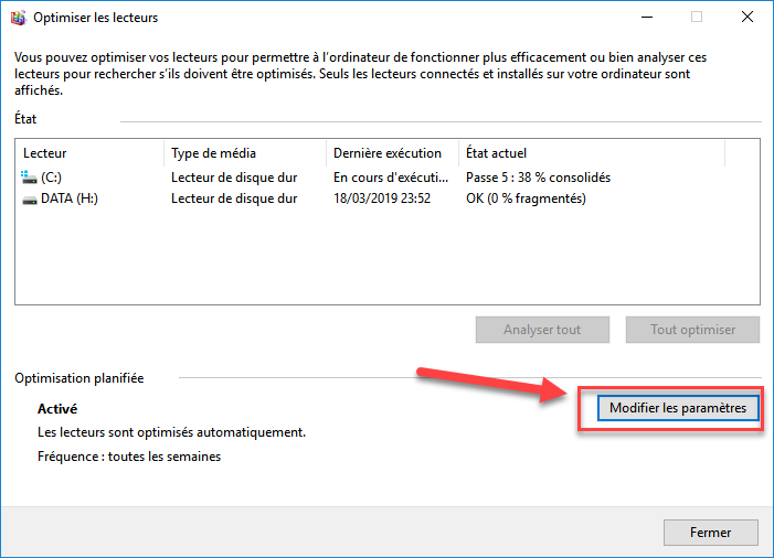 défragmenter windows 10 automatiquement