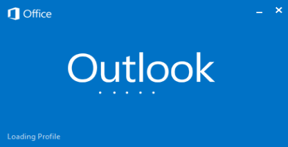 chargement du profil outlook