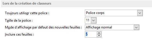 nombre de feuilles par défaut Excel