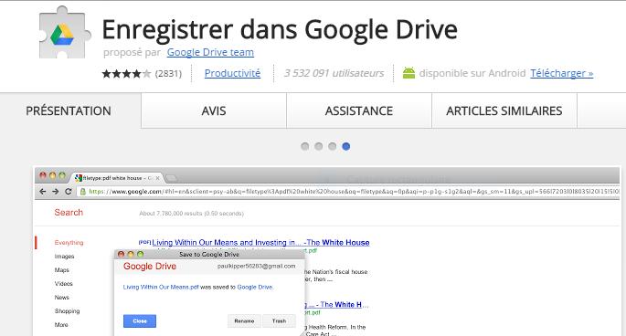 Comment télécharger des fichiers directement sur Google Drive
