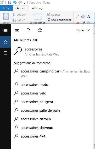 accessoires Windows 10