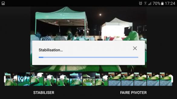 stabiliser vos vidéos avec Google Photos