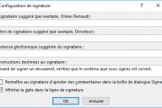 Comment ajouter, supprimer et modifier les signatures dans les fichiers Office