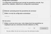 Windows n'a pas pu détecter automatiquement les paramètres de proxy de ce réseau