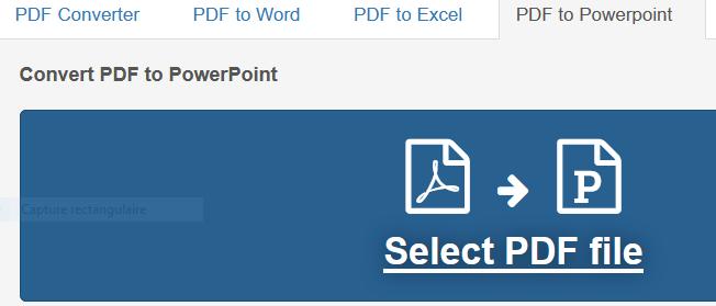 convertir un pdf en ppt en ligne gratuit