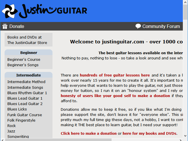 sites d'apprentissage de guitare gratuits