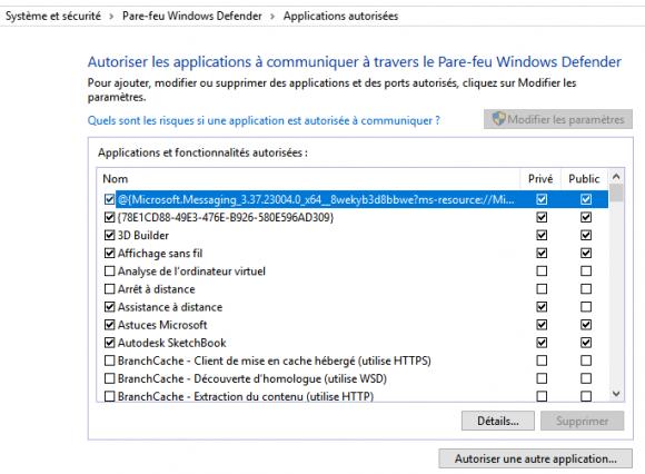 Bloquer un logiciel dans le pare feu Windows 10