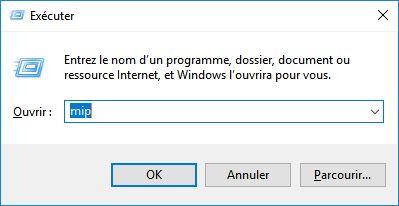 boîte de dialogue Exécuter windows 10