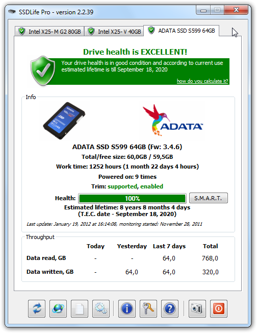 etat disque ssd windows