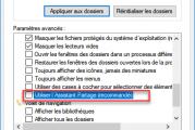 Utilisation de la fonctionnalité de partage avancée sous Windows