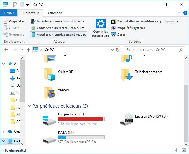 partitions disque dur windows