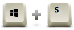 raccourcis clavier Windows + S