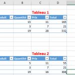 Comment comparer deux tableaux Excel avec une formule simple