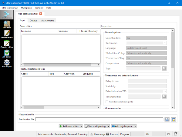 fusionner des fichiers WebM et MKV