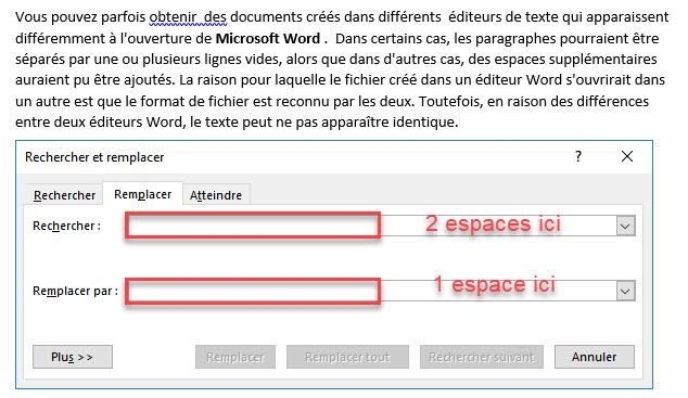 Comment supprimer les espaces doubles dans Microsoft Word ?