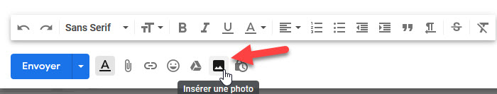 ajouter un lien image dans les messages Gmail