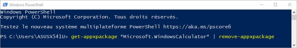 Réinstallez la calculatrice Windows 10