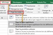 Comment figer des lignes et des colonnes dans Excel