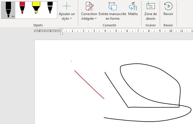 dessiner directement dans un document Word.