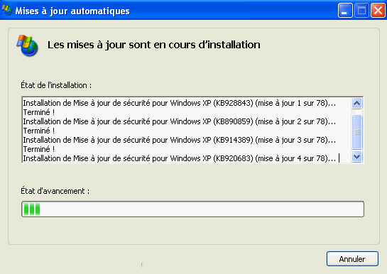 mise a jour windows