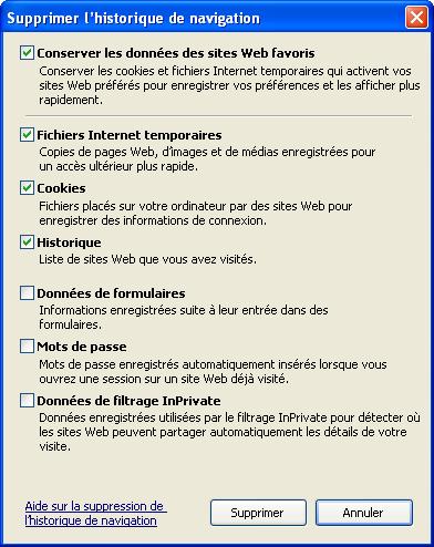 historique Internet Explorer
