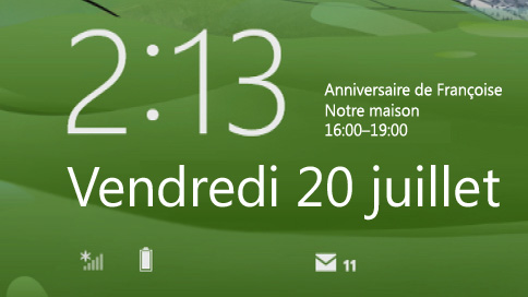 verrouillage écran Windows 8