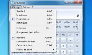 Calculatrice Windows 7