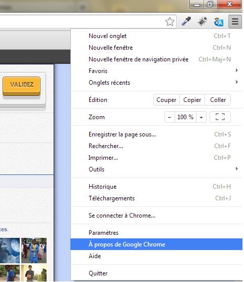 À propos de Google Chrome