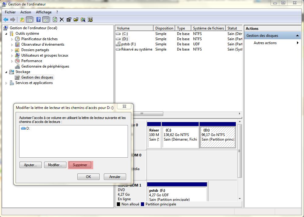Comment cacher une partitions Windows sans logiciels ?