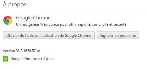 Comment mettre jour Google Chrome?
