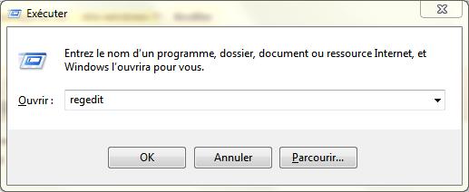 regedit windows 7