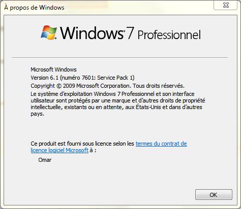 Version de windows 7