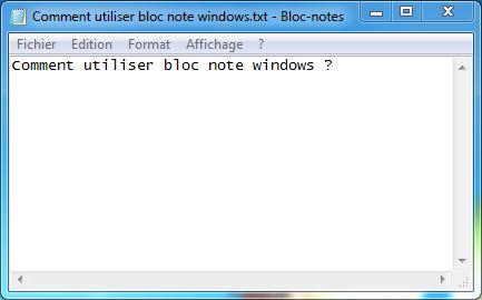 bloc notes windows