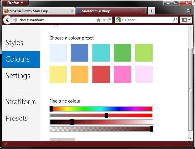 modifier couleur firefox