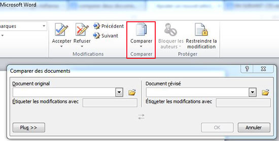Comparer des documents