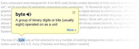 dictionnaire pour Google Chrome