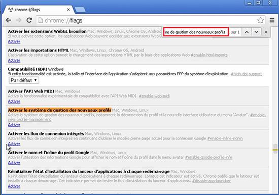 recherche système de gestion de nouveau profils