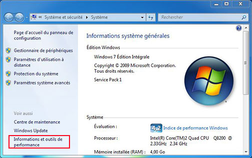 informations systeme general