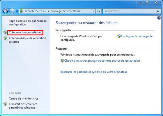Sauvegarder ou restaurer des fichier