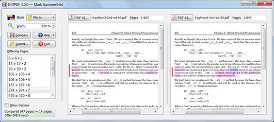 Comparer deux documents PDF