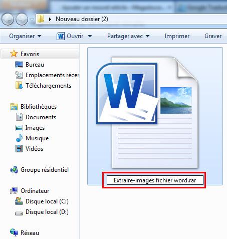 Extraire images d'un fichier word