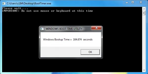 Windows Boot Timer