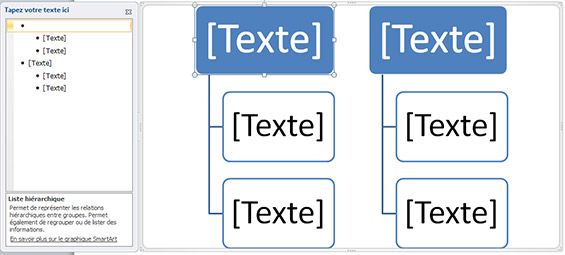 editer texte smartArt
