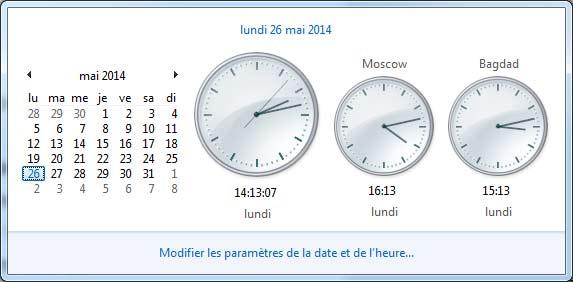 multi Horloge windows 7