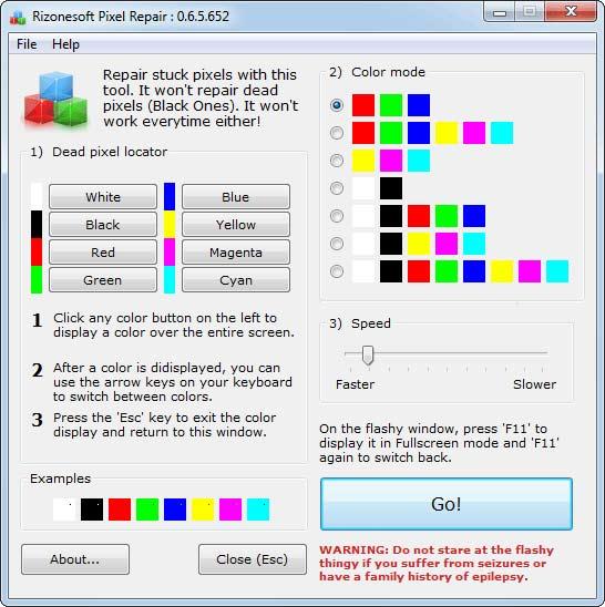 reparer les pixels bloqués
