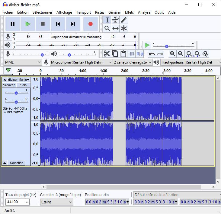 joindre deux fichiers MP3