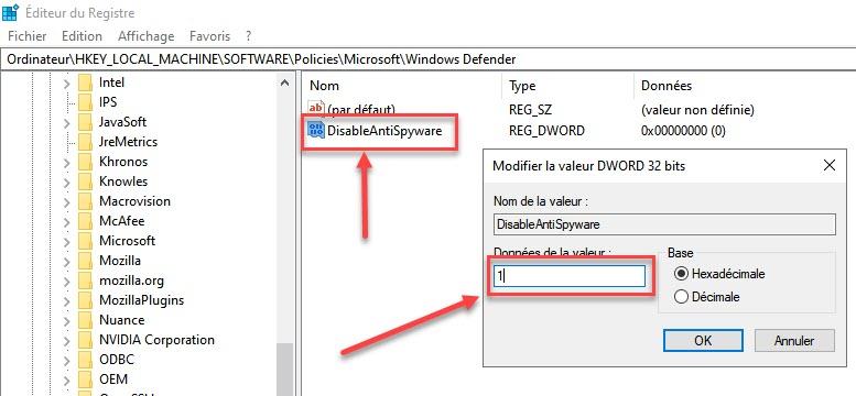 désactiver définitivement Windows Defender