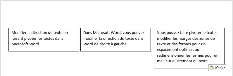 modifier la direction du texte dans Microsoft Word