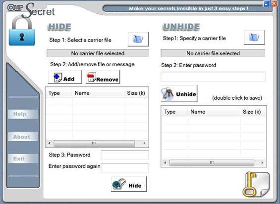 OurSecret pour cacher les fichiers